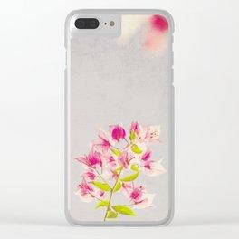 Dreamy Bougainvilleas Clear iPhone Case