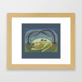 Memento Mori cat Framed Art Print