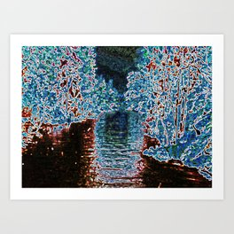Just a Trip on The River Art Print