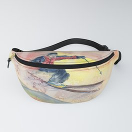 Colorful Skiing Art Fanny Pack