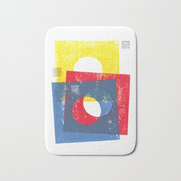 Basic in red, yellow and blue Bath Mat