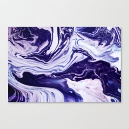Blue, Pink, White and Purple Marble Canvas Print