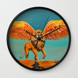 The Conquering Lion Wall Clock