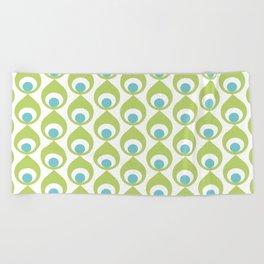 Retro Avocado Lime Green Beach Towel