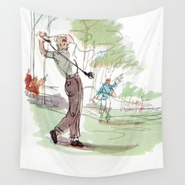 Are You Looking At My Putt? Vintage Golf Wall Tapestry