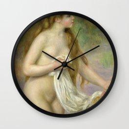 Auguste Renoir - Bather With Long Hair 1885 Wall Clock