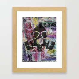 Don't Mask Your Passion For Fashion Framed Art Print