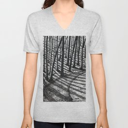 'Trees and Shadows' Unisex V-Neck