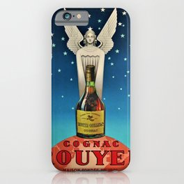 Vintage 1945 Cognac Rouyer Advertisement Poster iPhone Case