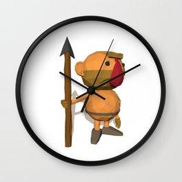 Caveman Low Poly Style Wall Clock
