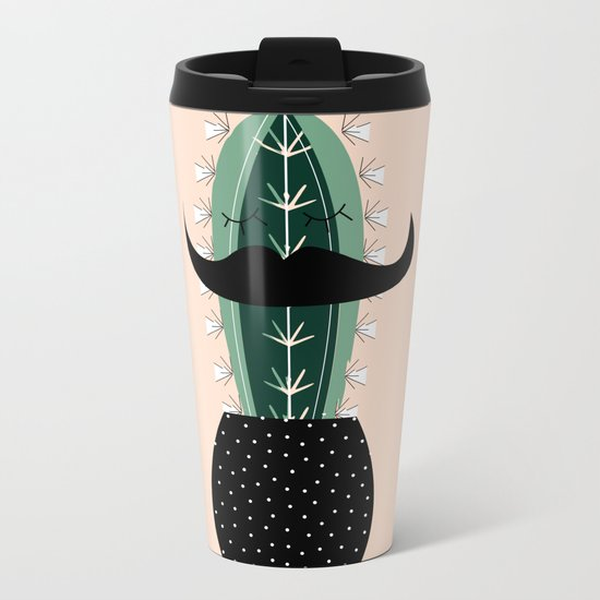 Mr. Succulent Metal Travel Mug