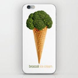 broccoli ice cream iPhone Skin