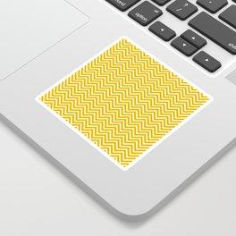 Yellow Chevrons Sticker