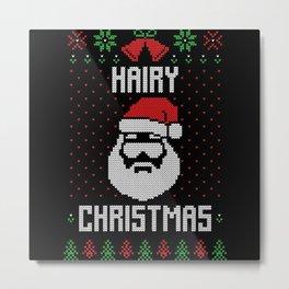 Hairy Christmas Metal Print
