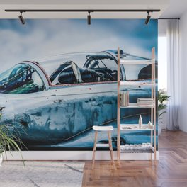 Cockpit Of A Modern Two-Seater Fighter Plane. Aviation Art Wall Mural