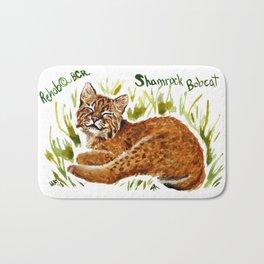 Shamrock Bobcat Smile Bath Mat