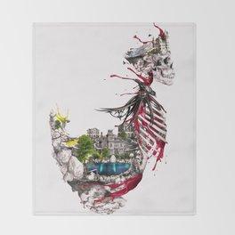 Legendary Skull Island Throw Blanket