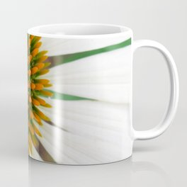 White Echinacea Coffee Mug