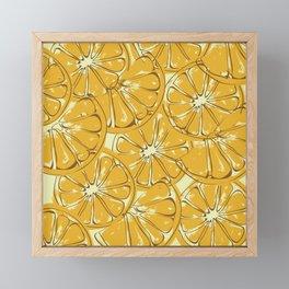 orange Framed Mini Art Print