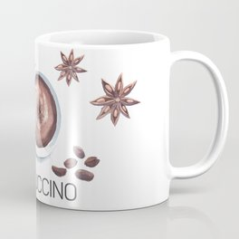 Cappuccino in Watercolor Coffee Mug