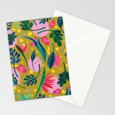 Cool summer in the mustard Stationery Cards
