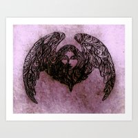 winged creatures Art Print