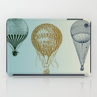 hot air balloons iPad Cases featuring Colorful Hot Air Balloons by Zen and Chic