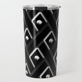 Black Diamond with White Studs Travel Mug
