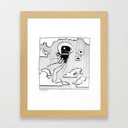 Flying squid – Seppiolina volante Framed Art Print