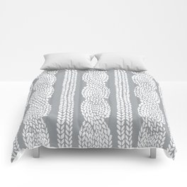 Cable Grey Comforters