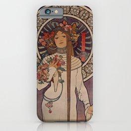LIQUEUR Parisian distillers Alphonse Mucha 1897 La Trappistine iPhone Case
