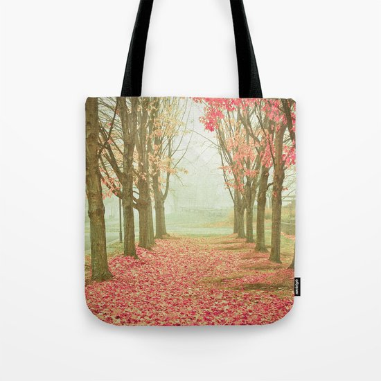 Scarlet Autumn Tote Bag