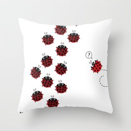 The path to Spring Throw Pillow