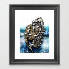 Astrology Illustration series-Capricorn Framed Art Print
