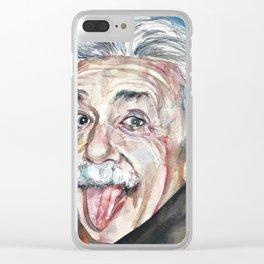 ALBERT EINSTEIN - watercolor portrait Clear iPhone Case