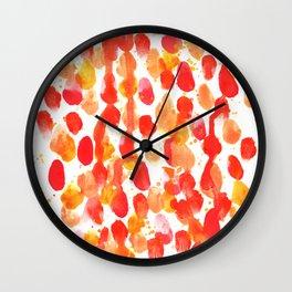 Valetine Abstract Watercolor Wall Clock