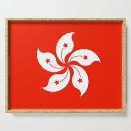 Flag of hong kong Serving Tray