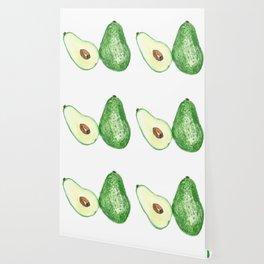 Avocado in watercolor Wallpaper