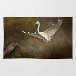 Great White Egret - Landing Rug