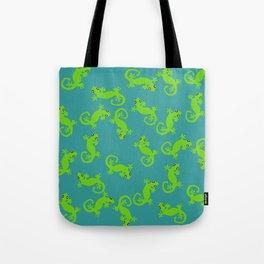 Cavorting Geckos Tote Bag