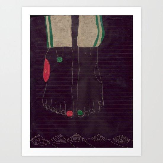 6 finger Art Print