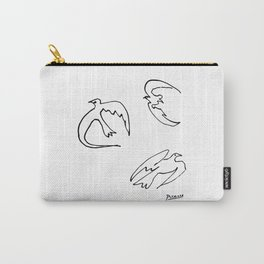 Doves Of Peace Line Drawing, Animals Sketch Artwork, Pablo Picasso Dove, Tshirts, Prints, Posters, B Carry-All Pouch