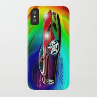 ferrari iPhone & iPod Cases featuring Ferrari by JT Digital Art