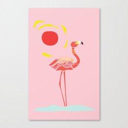 A Flamingo is a Handful Canvas Print
