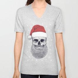 Santa skull Unisex V-Neck