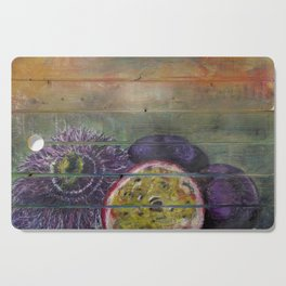 Passion Fruit and Flower Cutting Board
