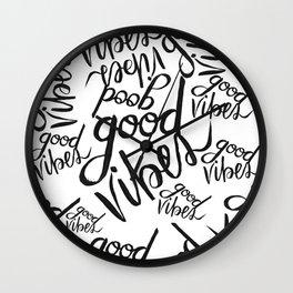 Good Vibes Pattern Wall Clock