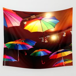 The Rainbow Party Lights Wall Tapestry