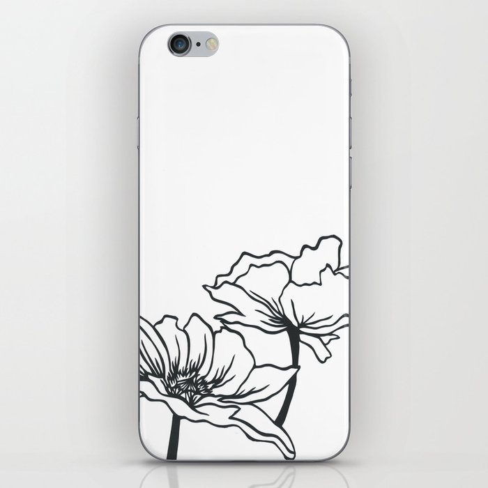 Paper Cut Poppy Iphone Skin By Paperroutedesigns