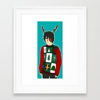 zuko Framed Art Prints featuring Xmas Zuko by Sakizm